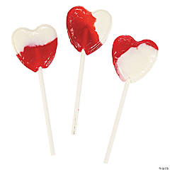 Strawberries 'N Cream Heart-Shaped Lollipops