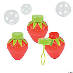Strawberry-Shaped Bubble Bottles