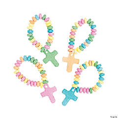 Stretchable Hard Candy Cross Bracelets