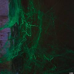 Stretchy Glow-in-the-Dark Spider Webs Halloween Decoration