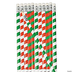 Striped Candy Cane Pencils