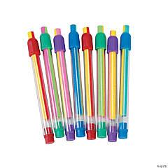 Striped Eraser Sticks - 12 Pc.