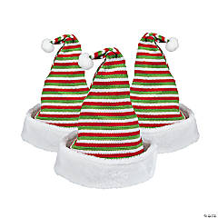 Striped Knit Santa Hat