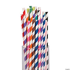 Striped Paper Straws Mega Pack