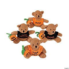 Stuffed Bears with A Halloween T-Shirt - 12 Pc.