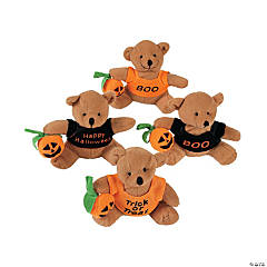 Stuffed Bears with A Halloween T-Shirt