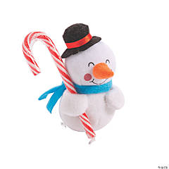 Stuffed Snowmen with Candy Canes