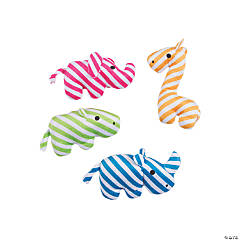 Stuffed Striped Zoo Animals