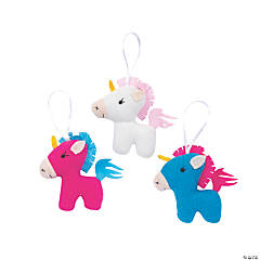 Stuffed Unicorn Ornaments