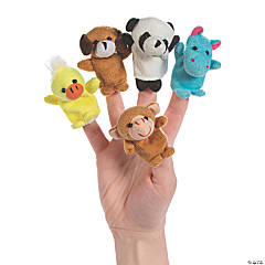 Stuffed Zoo Animal Finger Puppets