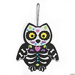 Sugar Skull Owl Door Hanger Craft Kit