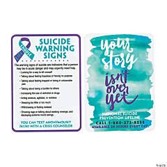 Suicide Awareness Wallet Cards