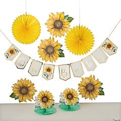 Sunflower Baby Shower Decorating Kit