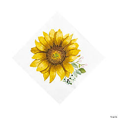 Sunflower Party Luncheon Napkins