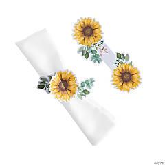 Sunflower Party Napkin Rings