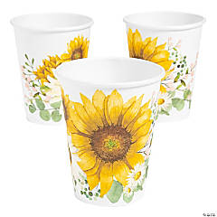 Sunflower Party Paper Cups - 8 Ct.