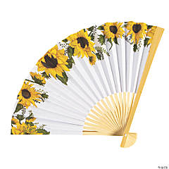 Sunflower Printed Folding Hand Fans