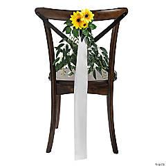 Sunflower Ribbon Chair Decoration