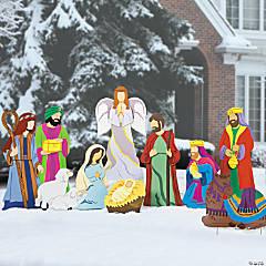 Super Deluxe Nativity Yard Scene