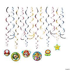 Super Mario™ Hanging Swirl Decorations - 12 Pc.