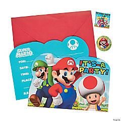 Super Mario™ Invitations - 8 Pc.