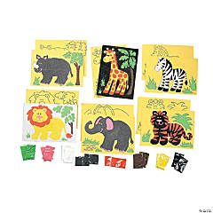 Super Safari Self-Adhesive Cardboard Sand Art Sets