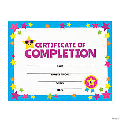 Super Star Certificates of Completion