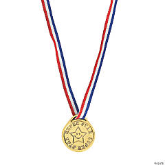 Super Star Goldtone Medals