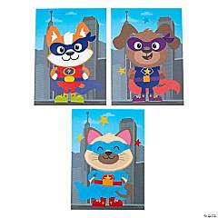 Superhero Animals Sticker Scenes