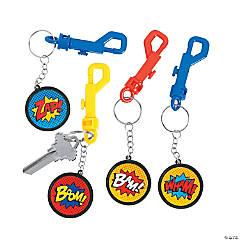 Superhero Backpack Clip Keychains