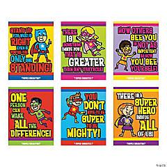 Superhero Character Poster Set