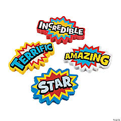 Superhero Erasers - 24 Pc.