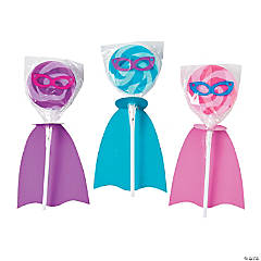 Superhero Girl Swirl Pop Set