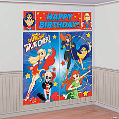 Superhero Girls Party Scene Setter