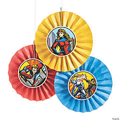 Superhero Hanging Fans with Icons