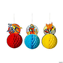 Superhero Hanging Honeycomb Decorations