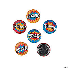 Superhero Mini Buttons