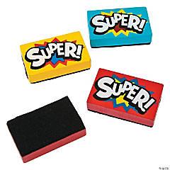Superhero Mini Dry Erase Erasers