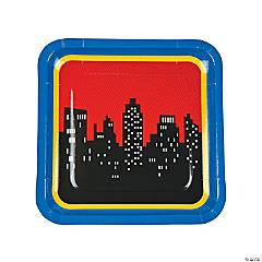 Superhero Square Paper Dinner Plates - 8 Ct.