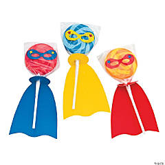Superhero Swirl Lollipops