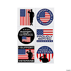 Support Our Veterans Temporary Tattoos