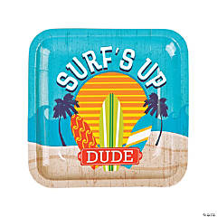 Surf's Up Paper Dinner Plates - 8 Ct.
