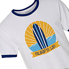 Surf's Up Adult's Ringer T-Shirt - Extra Large
