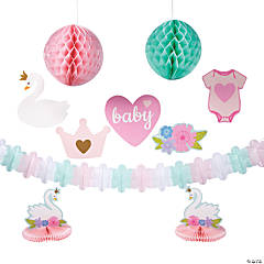 Sweet Swan Baby Shower Decorating Kit