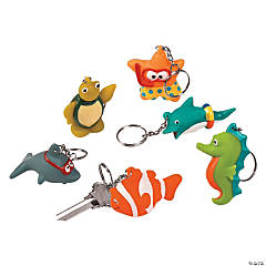 Swimming Sea Life Keychains