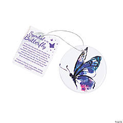 Symbol of the Butterfly Ornaments with Card