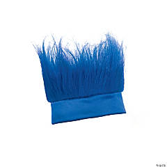 Synthetic Blue Crazy Hair Headband