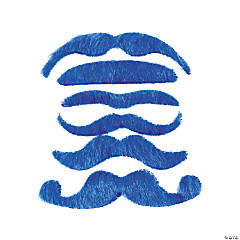 Synthetic Blue Mustache Assortment