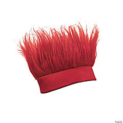 Synthetic Burgundy Crazy Hair Headband