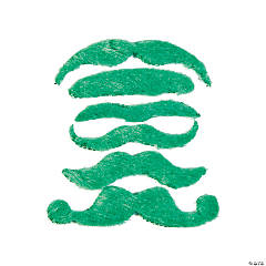 Synthetic Green Mustache Assortment